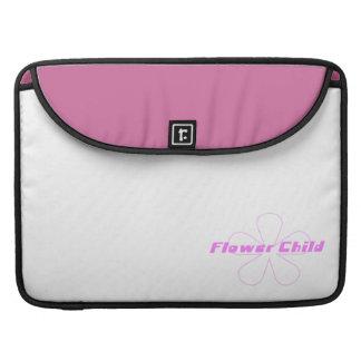 Niño de flor rosado funda para macbook pro