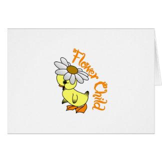 Niño de flor tarjeta de felicitación