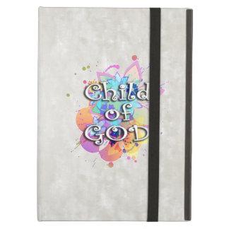 Niño de la acuarela del arco iris de dios