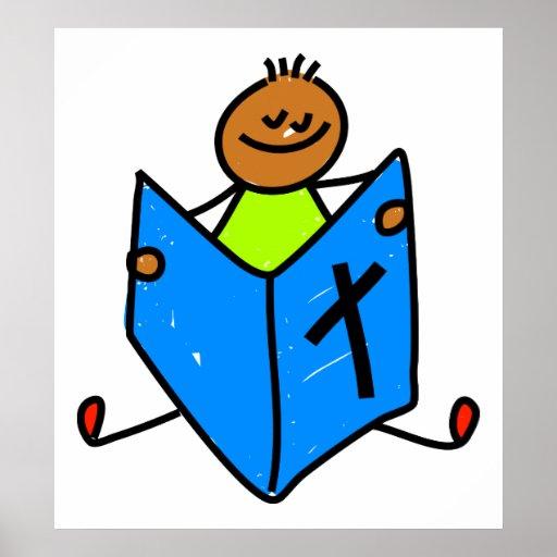 Niño de la biblia póster