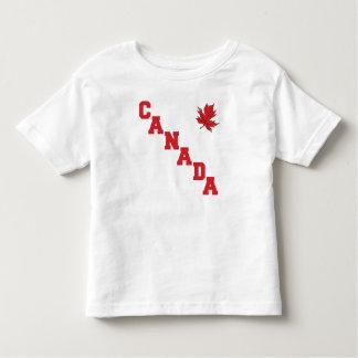 Niño de la camiseta de Canadá de la hoja de arce Remera