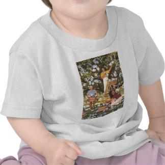 Niño de la camiseta del árbol del dinero
