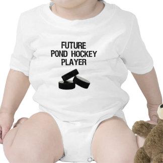 Niño de la charca del jugador de hockey futuro traje de bebé