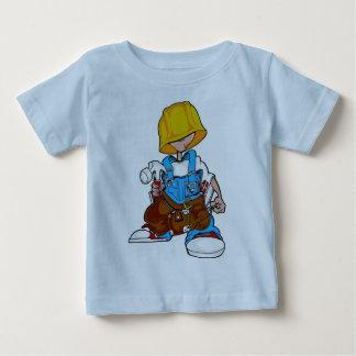 Niño de la construcción playera de bebé