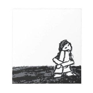 niño de la esquina bloc de papel