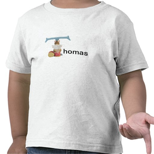 Niño de la letra T de Beatrix Potter o camisa del