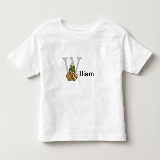 Niño de la letra W de Beatrix Potter o camisa del