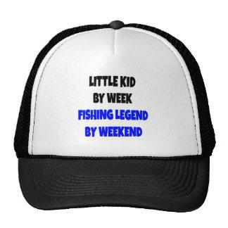 Niño de la leyenda de la pesca gorro de camionero