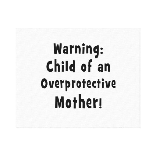 niño de la madre sobreprotectora black.png impresiones en lona estiradas