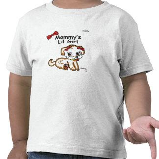 Niño de la niña de la mamá camisetas