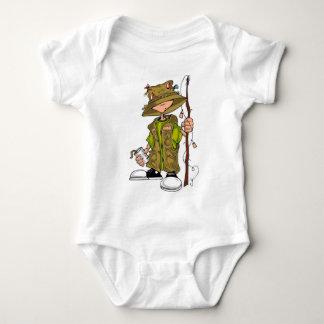 Niño de la pesca body para bebé
