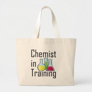 Niño de la química del estudiante del químico bolsa tela grande