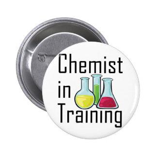 Niño de la química del estudiante del químico pin redondo de 2 pulgadas