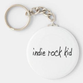 Niño de la roca del indie llavero redondo tipo pin