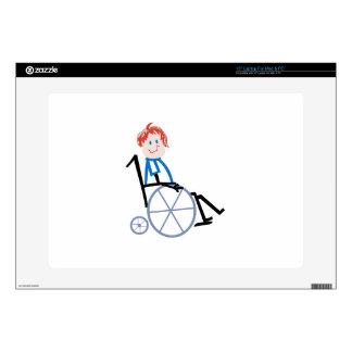 Niño de la silla de ruedas del palillo calcomanía para 38,1cm portátil
