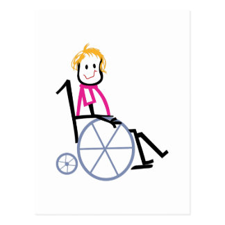 Niño de la silla de ruedas tarjetas postales