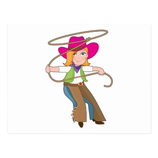 Niño de la vaquera tarjeta postal