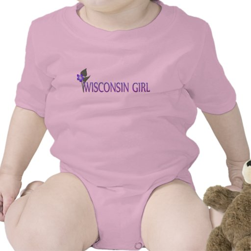 Niño de la violeta de madera del chica de Wisconsi Camiseta