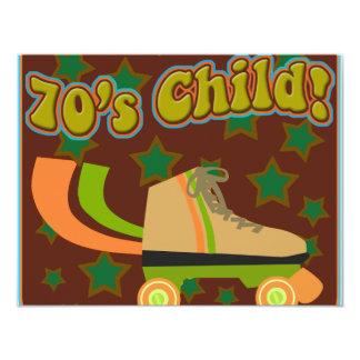 """Niño de los años 70 invitación 4.25"""" x 5.5"""""""
