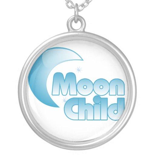 Niño de luna colgante redondo