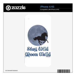 Niño de luna salvaje de la estancia calcomanías para iPhone 4