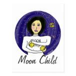 Niño de luna tarjeta postal