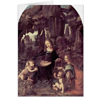 Niño de Maria y de Cristo y un ángel cerca Tarjeta