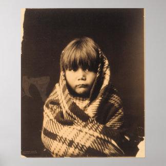 Niño de Navajo Póster