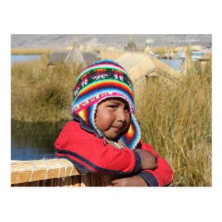 Niño de Perú - muchacho Tarjetas Postales
