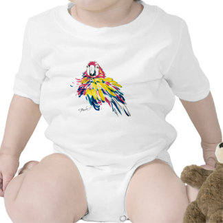 Niño de seda de la pintura del loro del Macaw del Traje De Bebé