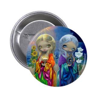 Niño de Sun y botón del niño de luna Pin