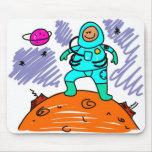 Niño del astronauta alfombrilla de raton