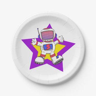 niño del astronauta del espacio (añada la foto de platos de papel