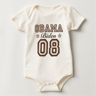 Niño del bebé de Obama Biden 08 Mameluco