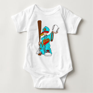 Niño del béisbol body para bebé