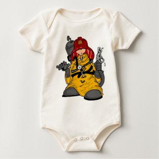 Niño del bombero body para bebé
