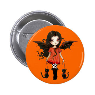 Niño del botón de Halloween Pin Redondo De 2 Pulgadas
