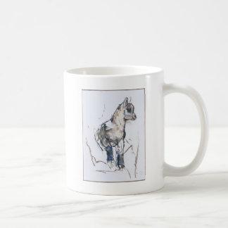 Niño del cabra montés taza básica blanca