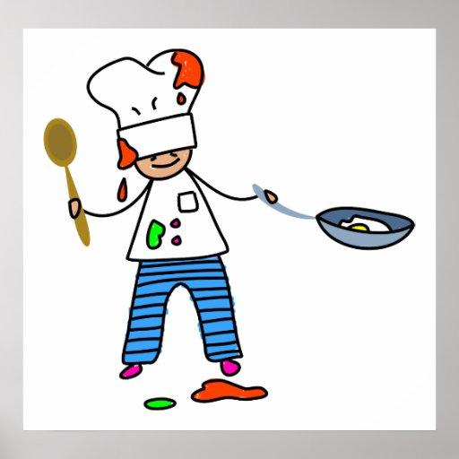 Niño del cocinero póster