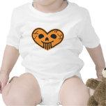 Niño del corazón del cráneo de Halloween Traje De Bebé