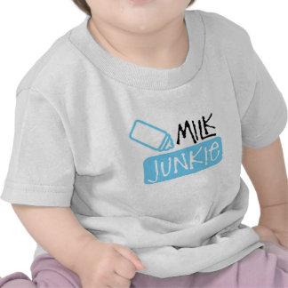 Niño del drogadicto de la leche camisetas