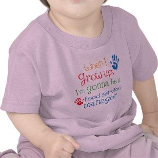 Niño del encargado de alimentación (futuro) camisetas