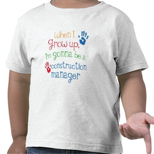 Niño del encargado de la construcción (futuro) camiseta