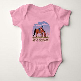 Niño del Equestrian de los mejores amigos Tee Shirts