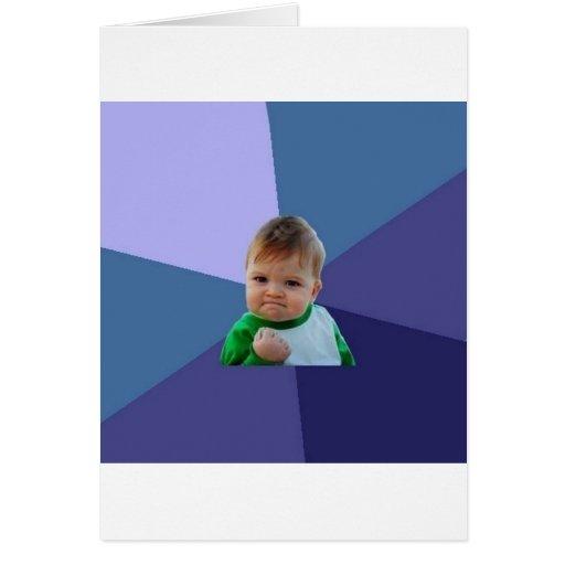 Niño del éxito tarjeta