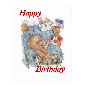 Niño del feliz cumpleaños tarjeta postal