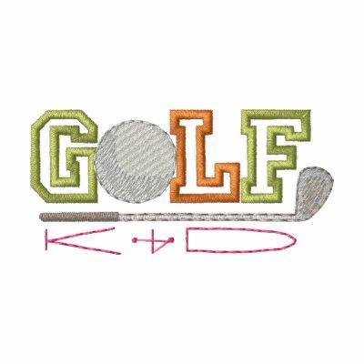 Niño del golf camiseta polo bordada