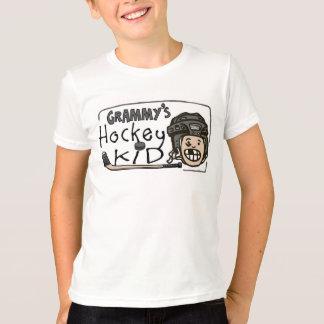 Niño del hockey de Grammy Playera