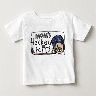 Niño del hockey de la mamá playera para bebé