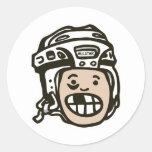 Niño del hockey etiquetas
